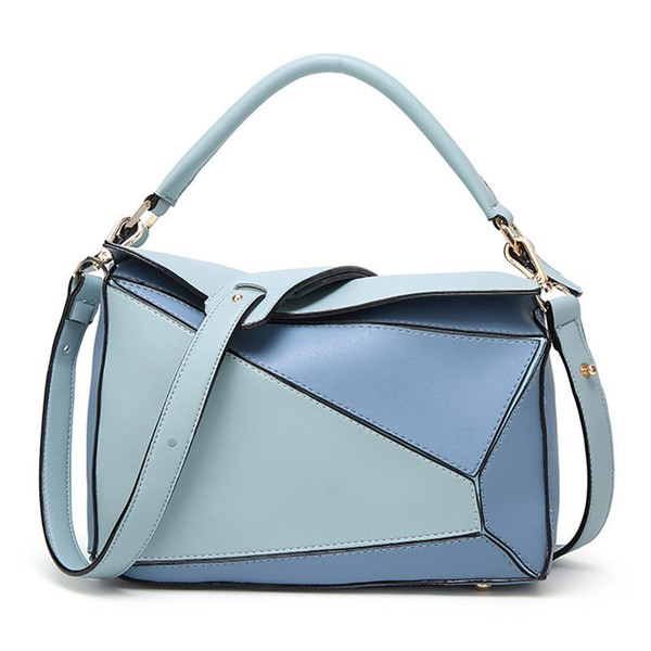 2019 Individual Crossbody Bags For Ladies Pillow Pattern PU Leather Patchwork Color Leisure Vintage Women Messenger Bags Hot