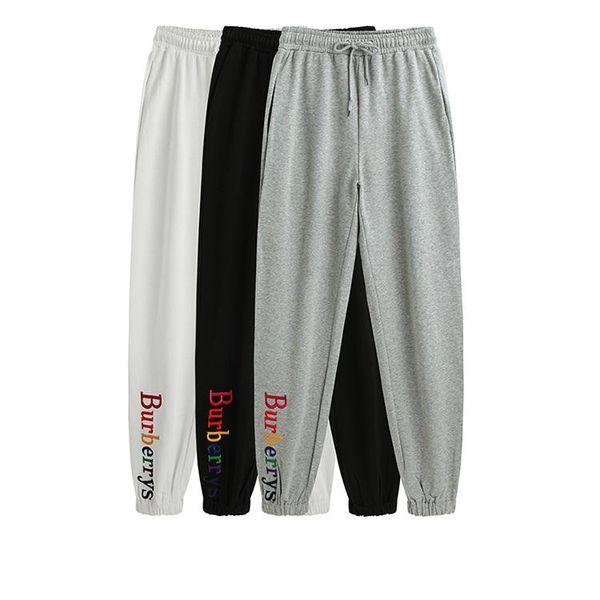 2018 Mens alta calidad carta bordado pantalones de chándal diseñador de pista para correr pantalones para mujer yoga joggers pista streetwear sudor pantalones