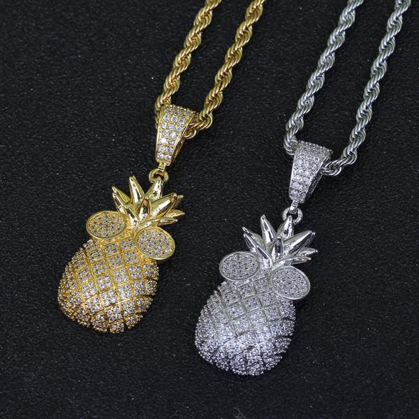 Ananas Anhänger Halskette für Frauen Niedlich Fruit Halskette Modeschmuck
