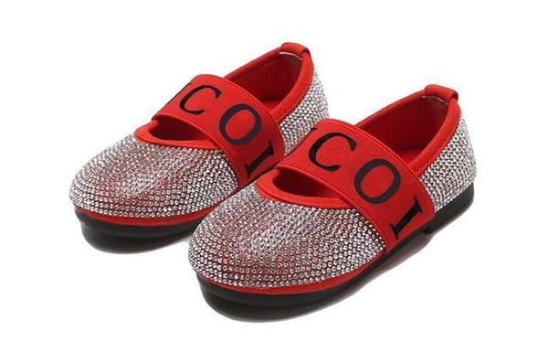 Menina Broca Único Sapatos Outono 2019 Novas Crianças Sapatos De Couro Menina Princesa Sapatos frete grátis