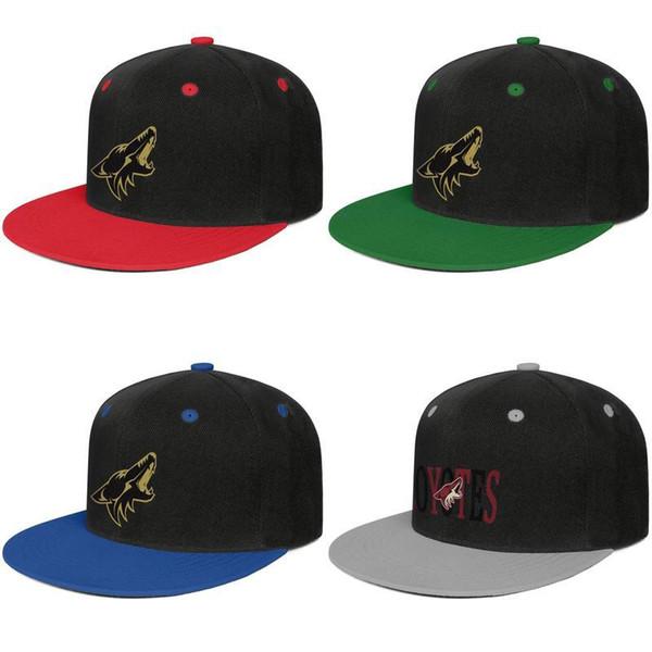 NHL Arizona Coyotes logotipo ouro da Juventude Moda selvagem guarda-chuva Todo o Algodão Vermelho verão Hip-Hop Net maré vermelha marca homens chapéu de Malha Dad Verão Chapéus
