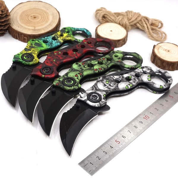 Outdoor Folding Karambit Knives csgo Hunting Camping Pocket Knife Survival Tactical Claw Knife cs go EDC Multi Tool 4 Color