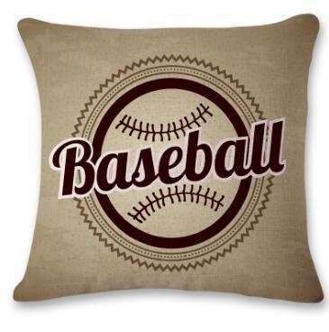#2 Baseball Throw Pillow Case