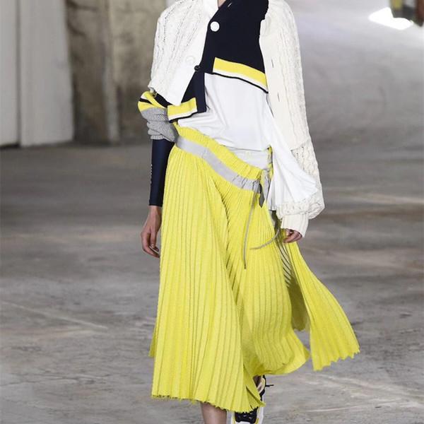 Jupe Femme Printemps / Eté Nouvelle Robe Cascade Effet Cascade