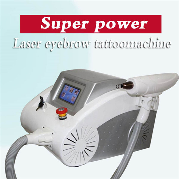 Qswitch nd yag Eliminación de tatuajes con láser Equipo de salón de belleza para la eliminación de pigmento de cejas EE. UU. REINO UNIDO UE Enchufe Pantalla LCD táctil