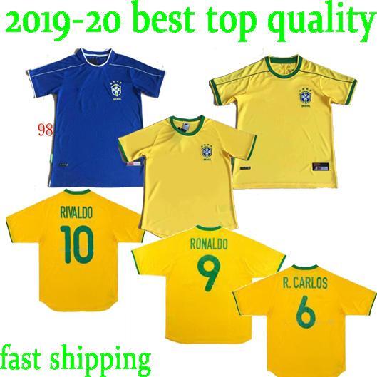 1994 1998 2000 2002 Classic Brasile shirt retrò maglie calcio RONALDO RIVALDO RONALDINHO Calcio R.CARLOS Bebeto ROMARIO Camisa de Futebol