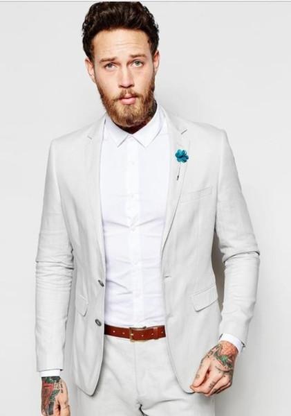 0742f0c5c7 Latest Coat Pants Designs Ivory White Linen Men Suit Summer Casual Slim Fit  Tuxedo Style Suits