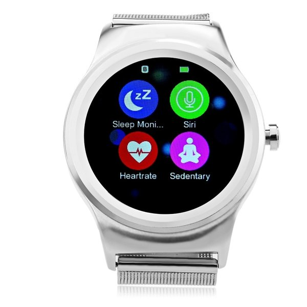 SMR-R1 Round Screen Bluetooth Smart Watch Heart Rate Monitor Remote Camera Music Control Dual Bluetooth Wristwatch