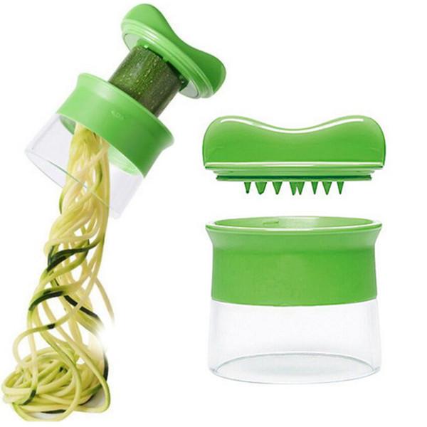 Handheld Vegetable Spiralizer Fruit Spiral Slicer Carrot Cucumber Grater Spiral Blade Cutter Salad Tools Peeler Cutter Carrot Grater Kitchen