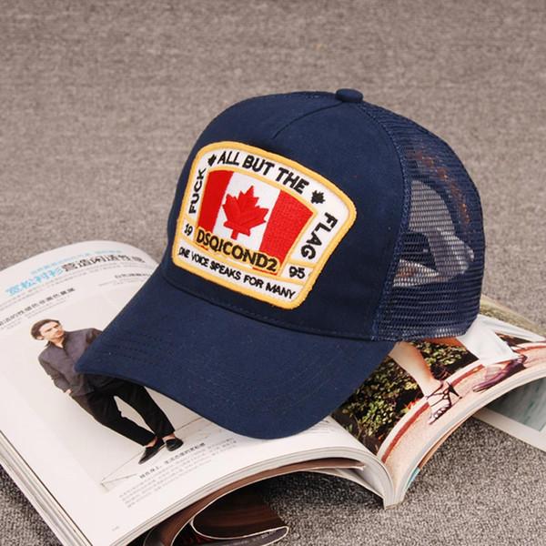 Fashion mesh eye Baseball cap maple leaf Icon cap d2 Snapback hat Men's sports cap women's Sun hat can adjust the four seasons