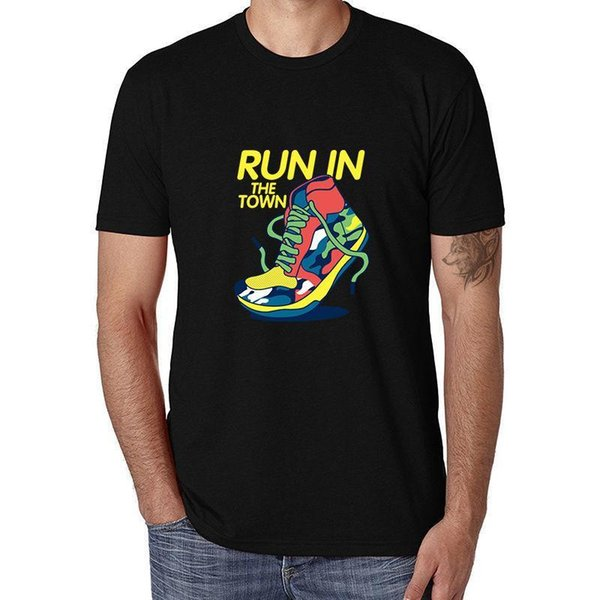 Fashion Sporting Music Funny Printing T-shirt Black Short Sleeve Men Cotton TEE Short Sleeve Round Neck T Shirt Promotion