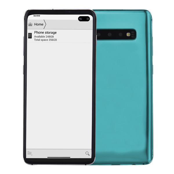 Green goophone 10 v4 6 4 quot punch hole full creen android 9 0 3g wcdma quad core mtk6580 1gb 8gb 32gb in di play fingerprint gp mart
