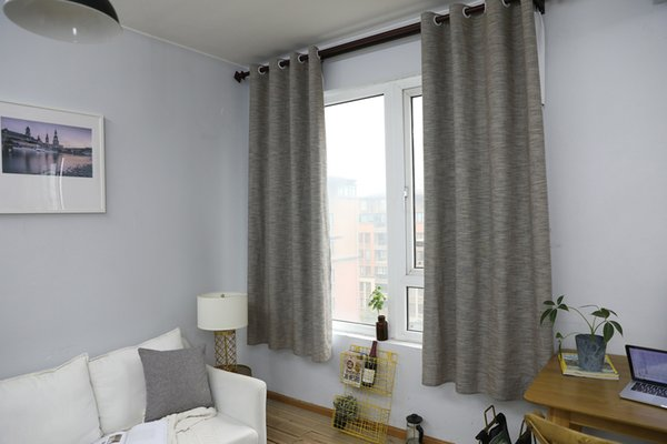 Concise Style Modern Semi-Shading Effect Curtain Finished Curtain Bedroom Living Room Window Natural Cotton Linen Curtain