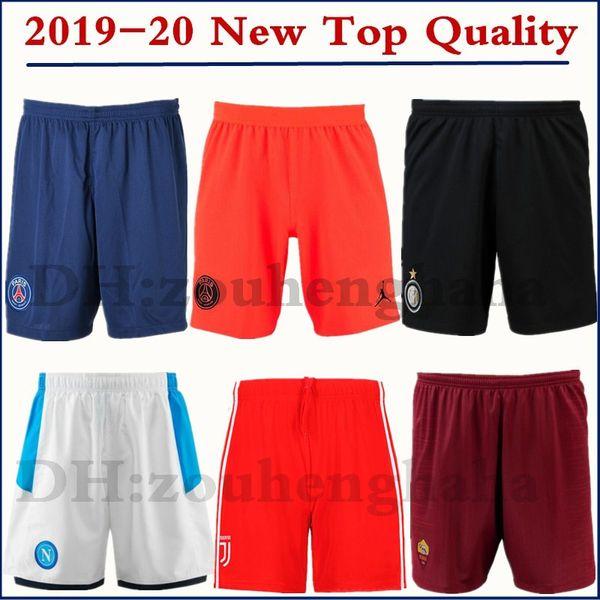 2019 2020 PSG Mbappé Calças de futebol 19 20 Paris Napoli Futebol calzoncillos Roma Marselha futbol culotte calções inter-ball