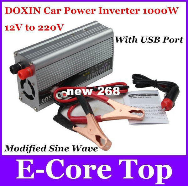 Función de envío gratuito Estable 1000 W Inversor Cargador de energía Pantalla de control de sobrecarga de control de 12V a 220 V Convertidor de onda sinusoidal de Modefied