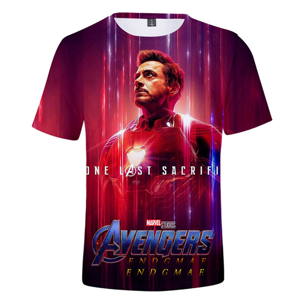 2019 endgame t shirt männer / frauen / kinder Marvels Die 4 druck Aheroes Assemble tee kleidung herren t-shirt tops