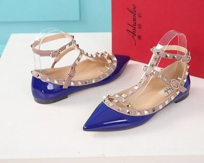 blue patent leather