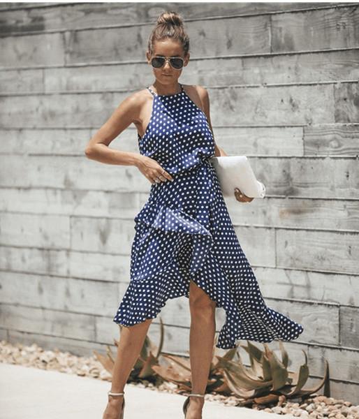 2019 Новые женские платья-майки Летние женские платья Одежда Нерегулярные платья