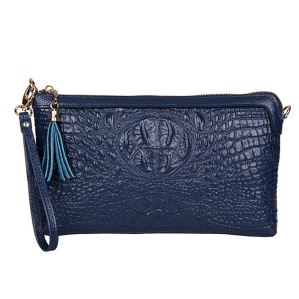 Vintage Crocodile Pattern Day Clutches Genuine Leather Cowhide Women's Party Shoulder Chain Bags Wholesale Free Shipping #512207