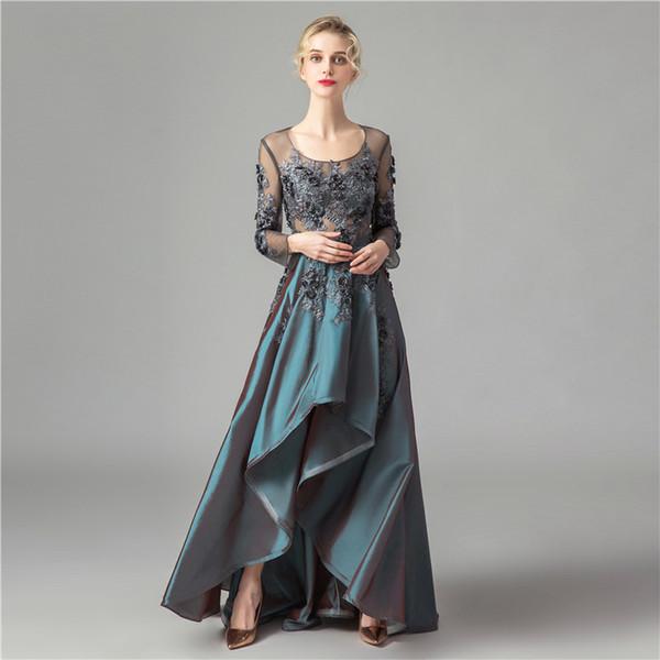 Abiti Da Sera Eleganti.Acquista 2019 Nuovi Abiti Da Sera Eleganti In Taffeta 3dflower