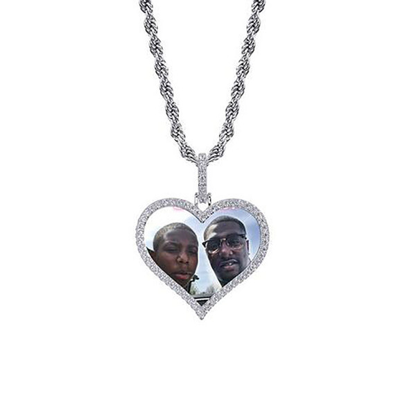 Silver Heart+Rope Chain