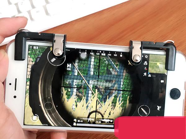 Neue Handy PUBG Artefakt Metallknopf Huhn Abendessen Griff Handknopf Schnelles Schießen Gamecontroller
