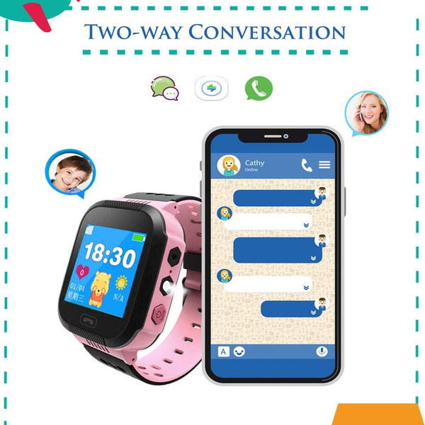 Q528 Montre intelligente pour enfant Positionnant un bracelet intelligent pour enfants multi-langues Photo Phone Baby Anti SOS SIM Watch perdu