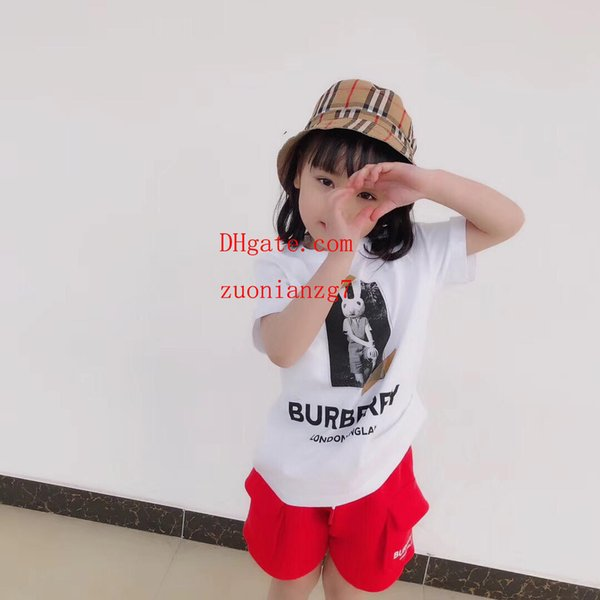 2019 Summer girl children's clothing cartoon pictures baby clothes T-shirt shorts cool fashion male baby pants boy two-piece suit v-t5