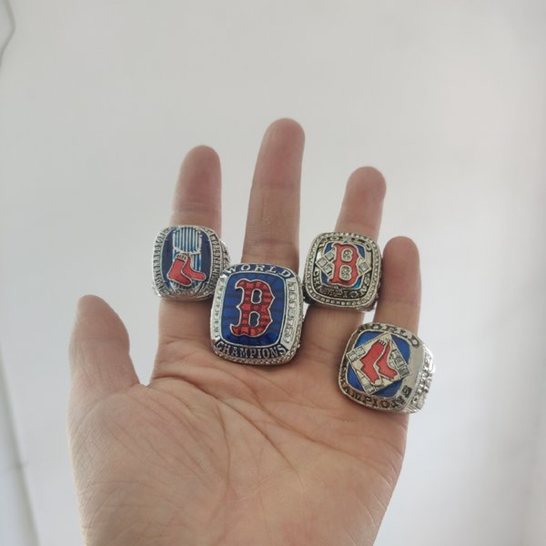 2019 wholesale 2004 2007 2013 2018 BOSTON 4RING RED SOX world Championship ring Fan Men Gift Wholesale Drop Shipping