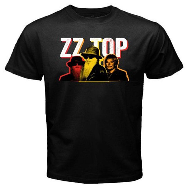 New ZZ TOP Personnel Rock Band Legend Men's Black T-Shirt Size S to 3XL