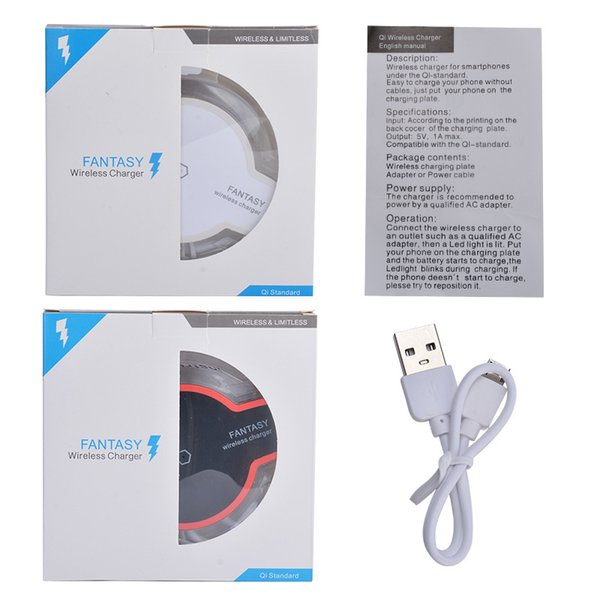 Fast Delivery Qi Wireless Phone Charger Portable Fantasy crystal Universal LED Lighting Tablet Charging For iPhone X 8 Plus Samsung S6 S7