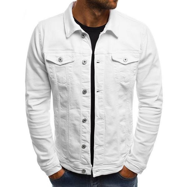 2019 Herren Frühling Herbst Jeansjacke Fashion Jacken Slim Fit Casual Streetwear Blouson Jacke Trucker Jacke versandkostenfrei