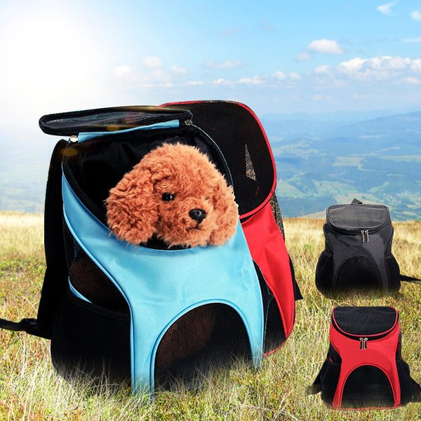 Oxford Dog Bag Backpacks to Carry Dogs Breathable Mesh Pet Carrier Backpack for Small Cats Dog Carrier Travel Bag with strap
