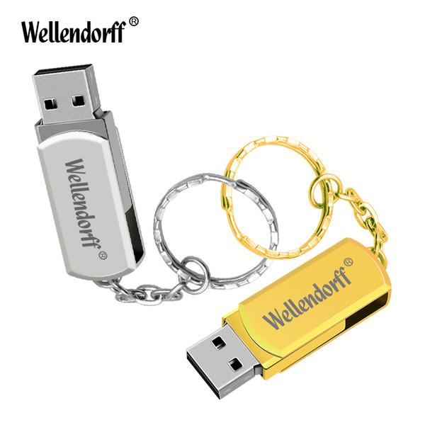 Clé USB pivotante USB 2.0 U Disk 4GB 8GB 16GB 32GB 64GB Silver / Gold / Black