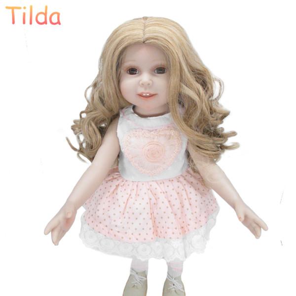 25-28 cm Tamaño de la cabeza Moda pelucas de pelo para muñecas Marioneta Muñeca de alta temperatura pelos pelos Accesorios para muñecas pelucas 10 unids / lote