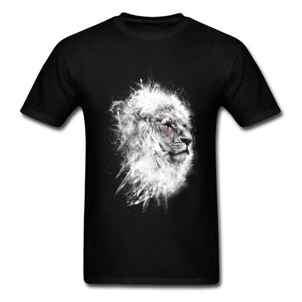 Oansatz Battle Lion King T-shirt Gedruckt Mode Neue T-shirt 100% Baumwollgewebe Herren T-Shirt Casual Tops T-shirt Hohe Qualität