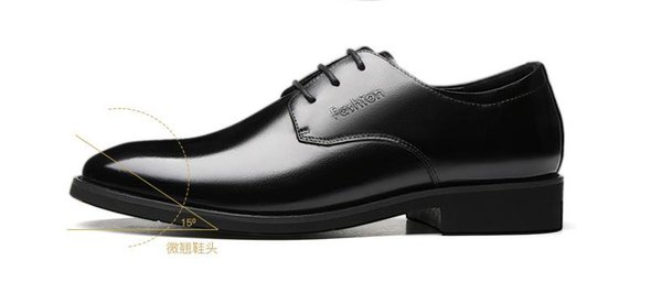 Fall / winter 2018 new plus velvet dress shoes men's leather trend shoes business
