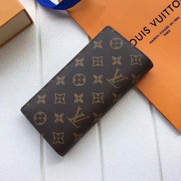 Высокое качество дизайнер новый лучший бренд кошельки классическая сетка складной кошелек мужчины и женщины универсальный длинный кошелек кожаный клатч