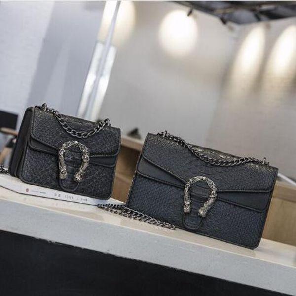 best selling Wholesale - 2019 New Handbags snake leather embossed fashion Women bag chain Crossbody Bag Brand Messenger Bag a main