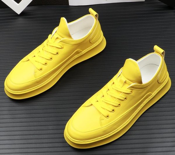 Hot Sale-Spring autumn Mens Trendy stylist candy colors Flats Designer Shoes Male Wedding Moccasins Loafers Sapato Social Masculino