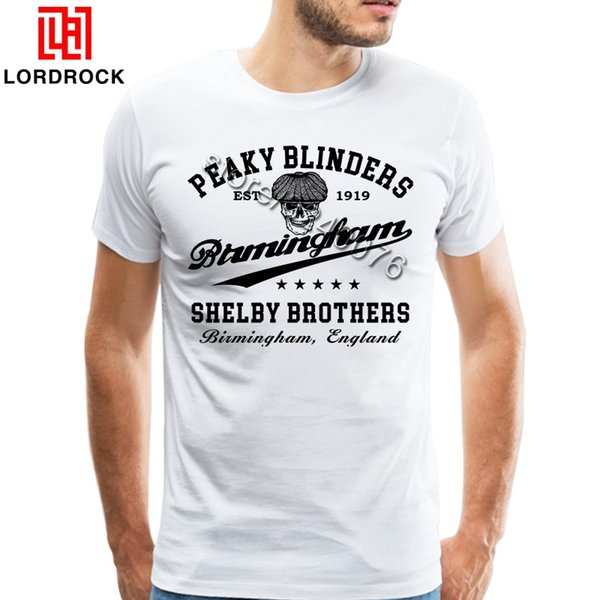 Retro Tee Peaky Blinders Clothing Male Plus Size Camiseta