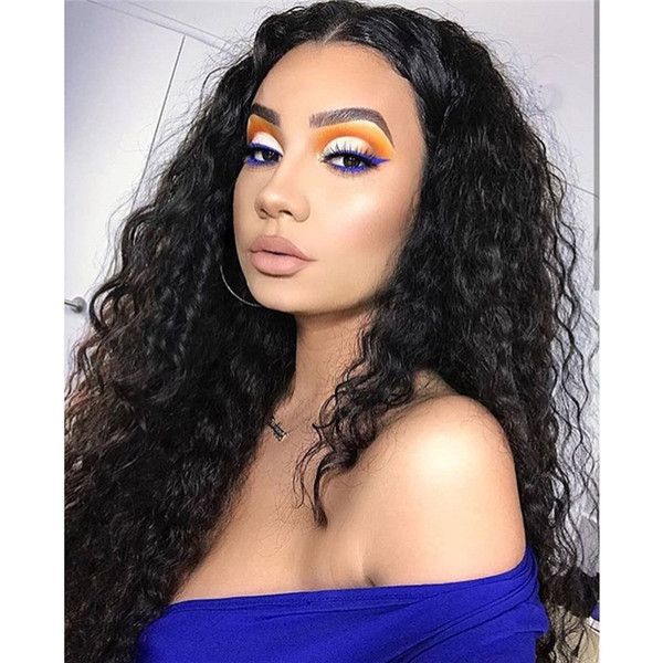 Top Selling Style Hight Quality Full Lace Wigs Indian Swiss Lace For Black Woman Virgin Human Water Wave Free Shipping
