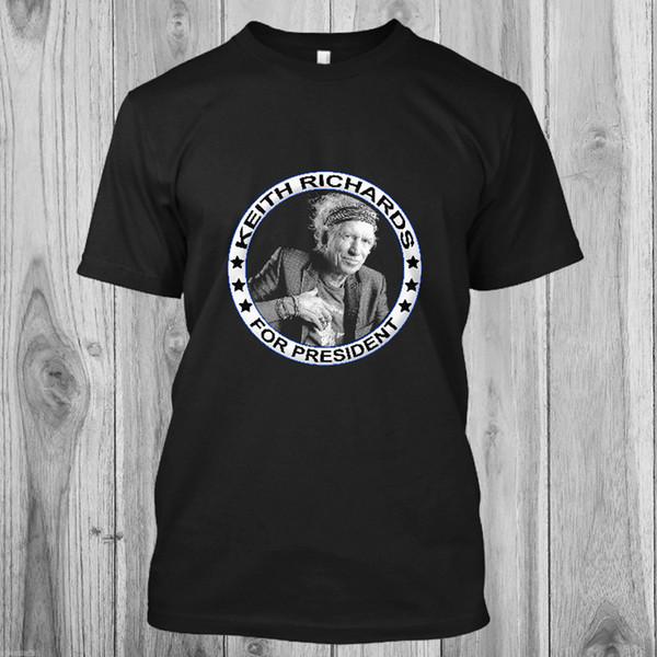 Новый Кит Ричардс для президента музыки мужская черная футболка размер S до 5XL смешно 100% хлопок футболка harajuku лето 2018 футболка