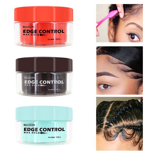 top popular Bellezon Refreshing Hair Oil Wax Cream Edge Control Long-lasting Hair Styling Cream Broken Finishing Anti-Frizz Hair Fixative Gel 2021