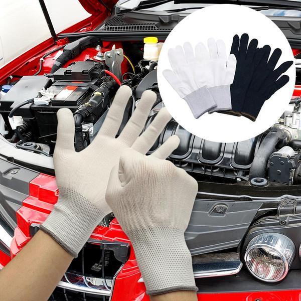 6 Adet / takım Araba Folyo Aracı Renk Değiştirme Filmi Eldiven Tozsuz Eldiven Süper-Yapıştırma Elyaf Kenar Kavisli Filmi