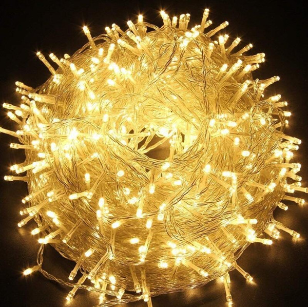 best selling LED String Light 10M 20M 30M 50M 100M AC220V Xmas Holiday Light Waterproof Christmas Lights 9 Colors Decoration Lamp