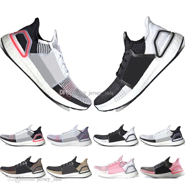 Ucuz Yeni 2019 Yeni Ultra Boost 19 Lazer Kırmızı Kırılma Oreo erkek koşu ayakkabıları erkekler Kadınlar için UltraBoost UB 5.0 Spor Sneakers Tasarımcı Eğitmenler