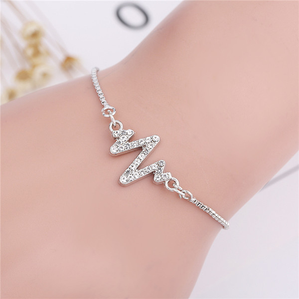 Sexy Cute Ankle Foot Chain Bracelet zircon Adjustable Anklets for Women Girls
