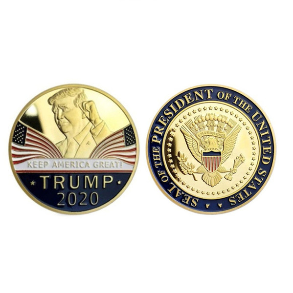 best selling Pack 2020 Donald Trump Souvenir Coin Dollar Make America Great Again Letter Figures Coins Crafts America General Election Favors E3409