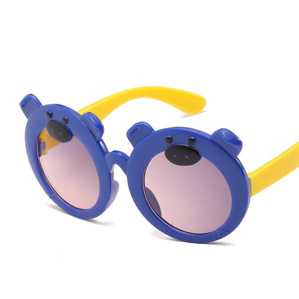 997c07374f02 New Arrivels Child Goggles Bear Shape Cute Plastic Frame Goggles Toddler  Kids Eyeglasses Baby Children Funny